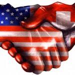 Swiss US handshake